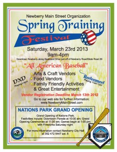 spring training festival flyer